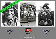 aviation art Luftwaffe pilot Hans Ulrich Rudel Knights Cross WW2 photo print