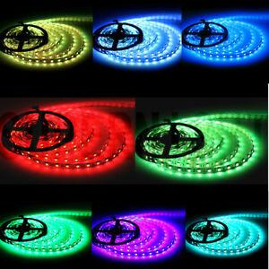 5M/10M RGB 150/300/600Leds 3528/5050 Flexible 12V/24V Decoration LED Strip Light