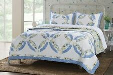 Queen Quilt Set Double Wedding Ring Patchwork Cotton