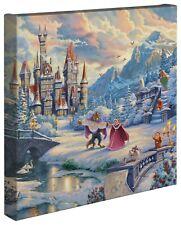 Thomas Kinkade Studios Beauty and the Beast Winter Enchantment 14 x 14 Wrap