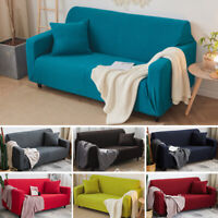 Soft Corduroy Stretch Elastic Cover Sofa Couch Furniture Protector Universal