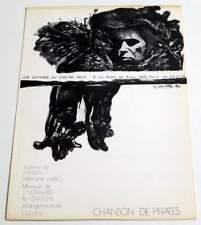 Partition vintage sheet music CLAUDE NOUGARO : Chanson de Pirates * 70's Hugo