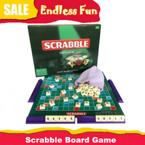 Original Scrabble Board Game Kids Adults Educational Toys Puzzle Family Game UK