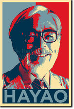 Hayao miyazaki art photo print (Obama Hope) Poster Cadeau spirited away