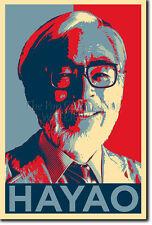 Hayao Miyazaki Arte Foto Stampa (Obama Hope) POSTER REGALO animato AWAY
