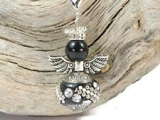 3 DIY Charm Anhänger Engel Schutzengel Wechselanhänger schwarz Perlenengel