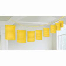 12ft Sunshine Yellow Party Paper Birthday Lantern Garland Decoration