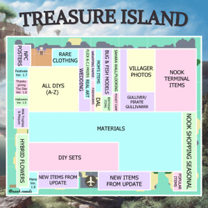 🌟July/Aug Ver. 1.11 SALE! New Animal Crossing Treasure Island Timed Visits!!