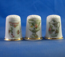 Birchcroft Thimbles -- Set of Three  -- Antique Pottery ( Make Offer )