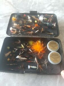 A Swedish Design Fly Fishing Box Wi A Wonderful Selection of Trout and Salmon...