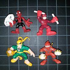 Superhero Squad SHS Lot 4 Daredevil, Iron Fist, Spider-Man Web Shield Hand Ninja