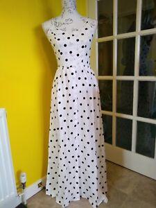 Dolly & Dotty Sue Black/White Polka Dot Sundress Size 10-12
