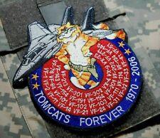 F-14 TOMCAT FOREVER 1970-2006 FAREWELL DECOMMISSION COMMEMORATIVE burdock PATCH