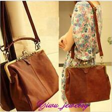Hot Women Retro Vintage Pu Leather Shoulder Handbag Tote Bag Purse Cross Body YZ