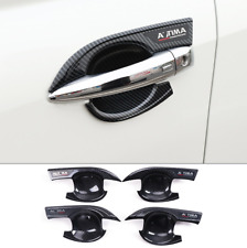 Carbon Fiber Car Door Handle Bowl Decorative Cover For 2019 Nissan Teana Altima