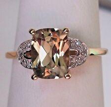1.66Ct Csarite & Diamond 10K Yellow Gold Ring, Size 6, Certificate
