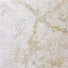 White Marble Vinyl Tile 20 Pc Adhesive Kitchen Flooring - Actual 12'' x 12''