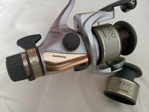 Shimano Sahara 3000GTE match reel. Fightin' drag, 4BBs 2 spools superb condition