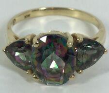 Mysit Topaz Ladies Solid Gold Ring (J115)