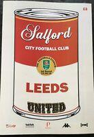 Salford City v Leeds United Carabao Cup 2019/20. MINT
