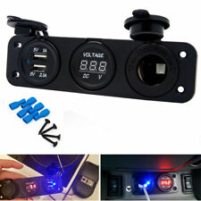 DC 12V Dual USB Auto Car Cigarette Lighter Socket Charger Power Adapter Outlet