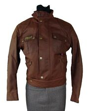 Belstaff Iconic Brown Waxed Rebel Motorcycle Jacket Blouson Size 42 Made Italy