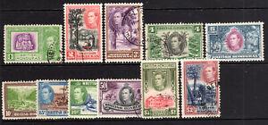 British Honduras fine used to $2 Dollars SG150-160 Cat £73   [B260821]