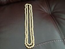 """Gold coloured artificial pearls, approx 46"""" end to end"""