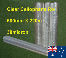 Clear Cellophane Roll 60cmX220m 1Roll/Pack 38micron