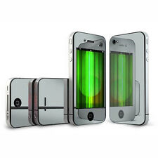 3pair Mirror Screen Protector Front + Back Cover Film for Apple iPhone 4 4G 4S