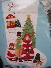 BUCILLA Applique Holiday STOCKING FELT KIT,A DICKENS CHRISTMAS,Carolers,82824,18