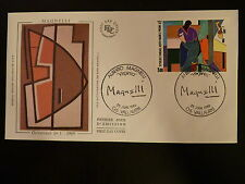 FRANCE PREMIER JOUR FDC YVERT 2414  ALBERTO MAGNELLI  5F  VALLAURIS  1986