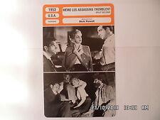 CARTE FICHE CINEMA 1953 MEME LES ASSASSINS TREMBLENT Stephen Mc Nally