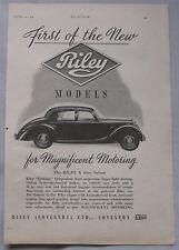 1945 Riley 1.5-litre saloon Original advert No.1