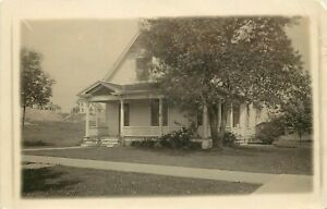 1909 RPPC Postcard Edward Greedy Home, now in Historic District Cedar Rapids IA