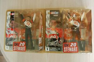 (2) 2004 Action/Mcfarlane NASCAR Series 1 TONY STEWART figures Home Depot Nextel