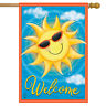 "Summer Sunshine Welcome House Flag Sunglasses 28"" x 40"" Briarwood Lane"
