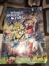 1985 Kansas City Royals TEAM SIGNED WORLD SERIES PROGRAM BRETT WHITE WILSON