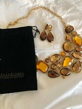Joan Rivers Statement Bib necklace and Earrings
