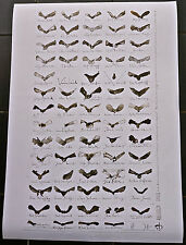 Horst Janssen Plakat / Druckbogen für 69 Tischkarten, signiert, 64x90 cm. selten