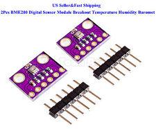 2Pcs BME280 Digital Sensor Module Breakout Temperature Humidity Baromet Pressure