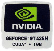 NVIDIA GeForce GT 425m CUDA 1gb STICKER ADESIVO LOGO 18x18mm (244)