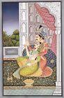 Handmade Original Oil Painting Of Mughal King & Queen Enjoying Love On Canvas