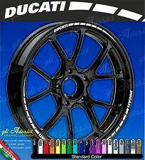 Set Adesivi Cerchi Moto Ruote DUCATI Monster Multistrada Hypermotard monocolore