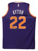 DEANDRE AYTON Autographed Phoenix Suns Purple Swingman Nike Jersey STEINER