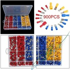 900Pcs Assorted Insulated Electrical Wire Terminal Crimp Connector Spade Set Kit