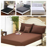 1900 Count Wrinkle Free Fitted Bed Sheet  King, Queen, Twin, Full Size