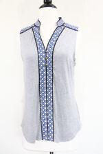 Stitch Fix Market Spruce Tank Top Shirt sz Small Gray Kollie Henley Blue NEW