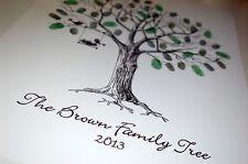 Large Family Fingerprint / Thumbprint Tree- Unusual Christmas/ Christening Gift