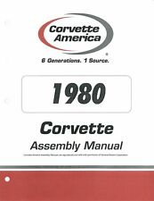 1980 Chevrolet Corvette Assembly Manual Book Rebuild Instructions Illustrations